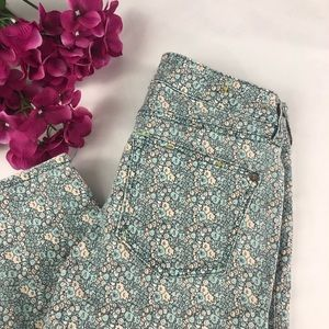 Pilcro Floral Print Skinny Jeans Size 25